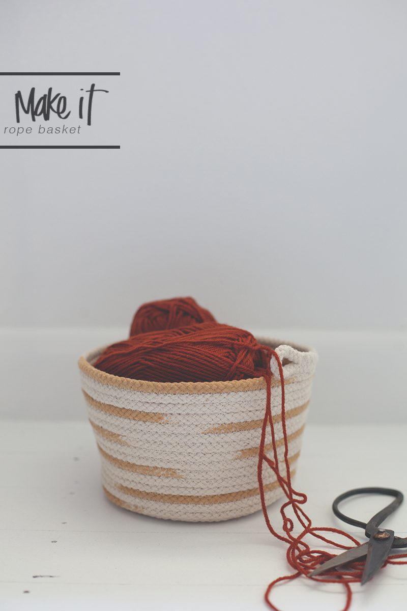 DIY rope basket BLACKBIRD BLOG