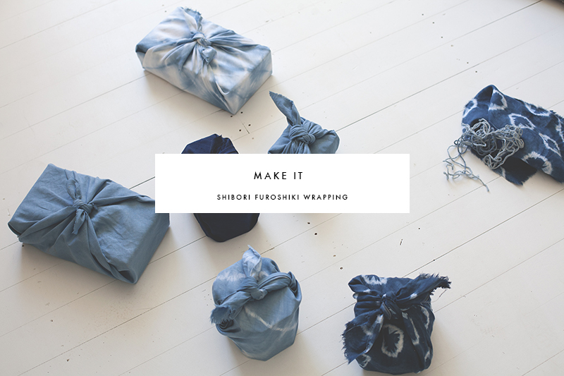 Make It Shibori Furoshiki Wrapping Blackbird
