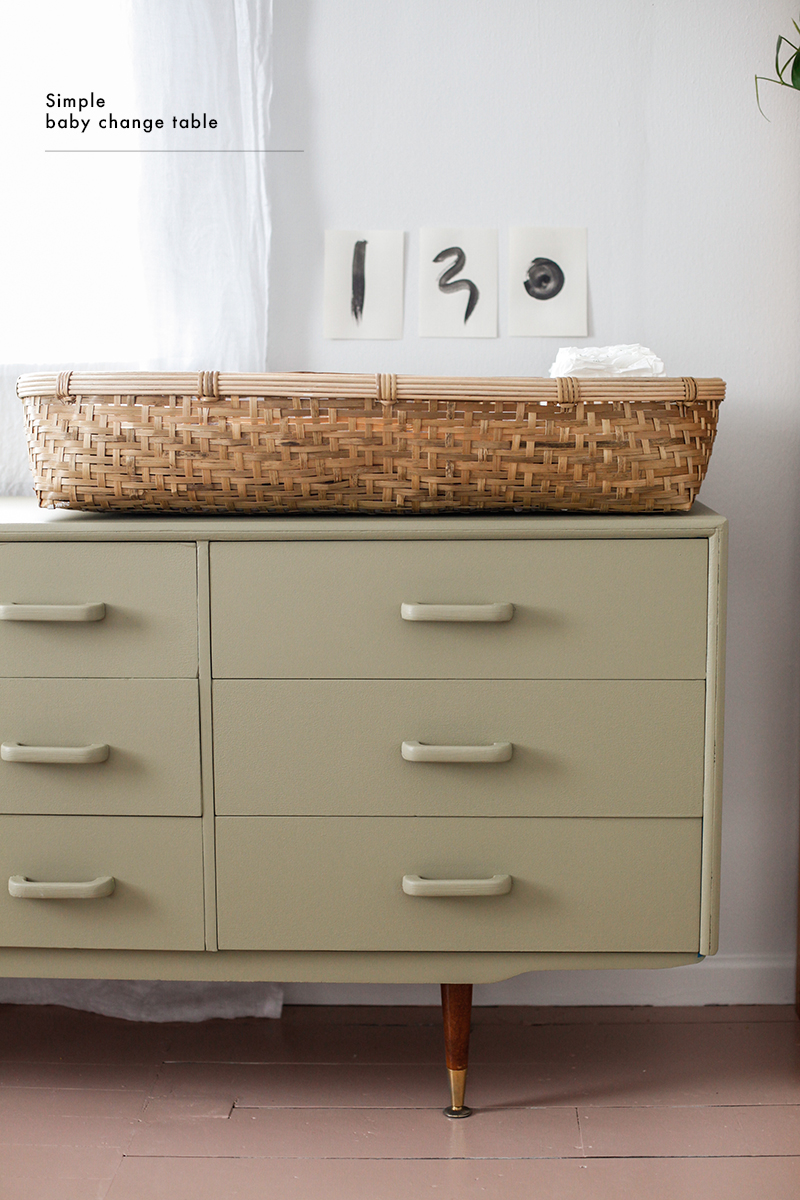 Simple Changing Table Blackbird